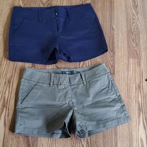 Mossimo bundle size 4 shorts tan and blue
